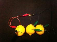 lemon batteries with LED
